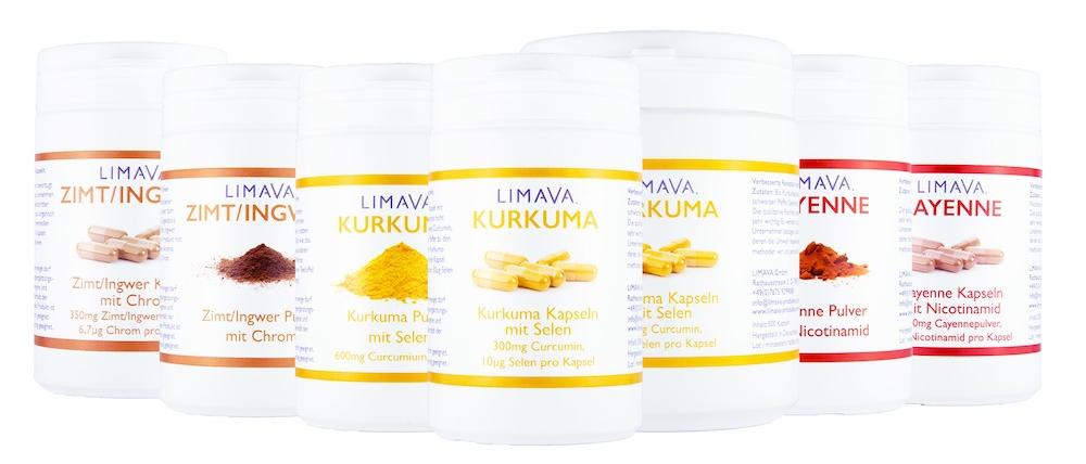 Kurkuma, Cayenne und Zimt/Ingwer